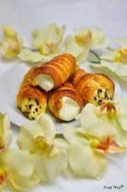 67. Susy May, Cannoli con crema al cocco e scaglie di cioccolato fondente e con banana cream cheese