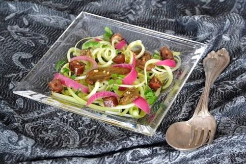 1. insalata di sedano datteri cipolle in agrodolce e fegato di razza affumicato di Cristina G.