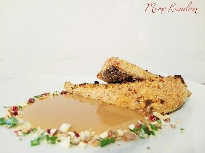 18. filetti di gallinella affumicati in crosta di frutta secca con salsa agrodolce di Viviana