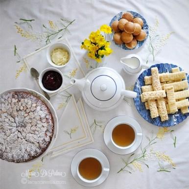 69. Spicy Afternoon tea con Fruit Cake, Shortbread alla noce moscata e Potato Scones di Maria DP