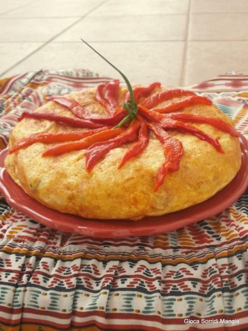 10. tortilla al caprino con contorno di peperoni arrostiti di Sonia
