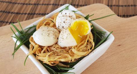 46. nido di patate e uova di quaglia in camicia di Elisabetta