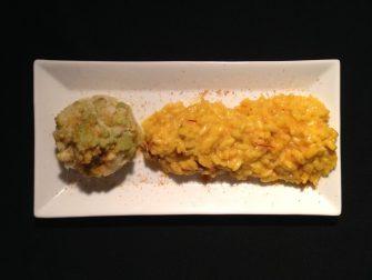 34. risotto allo zafferano con cozze e broccolo romano di Giuseppina
