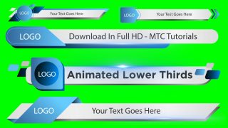 Green Screen Lower Third Download Adobe Premiere Project File