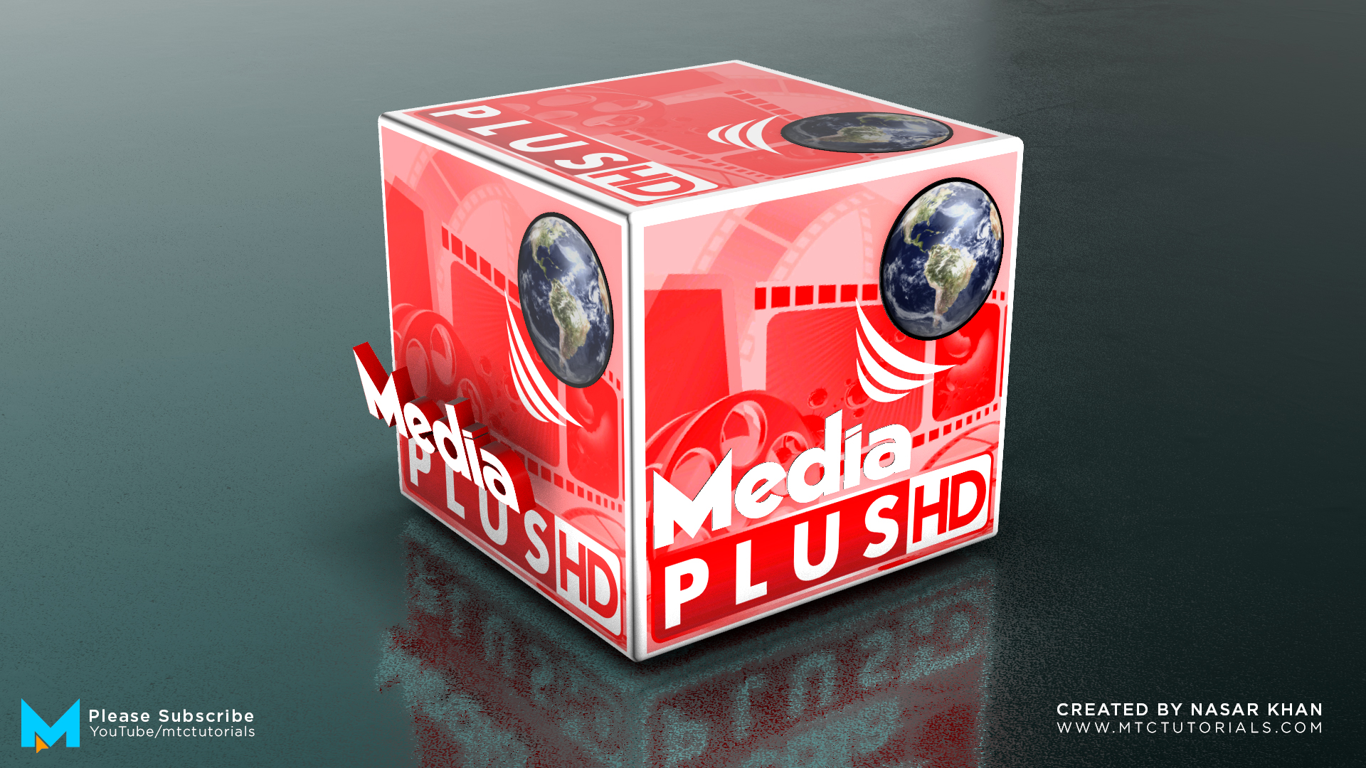 3D Animated Cube Ae Template