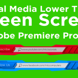 Social Media Lower Thirds Green Screen | Free Adobe Premiere Project Download