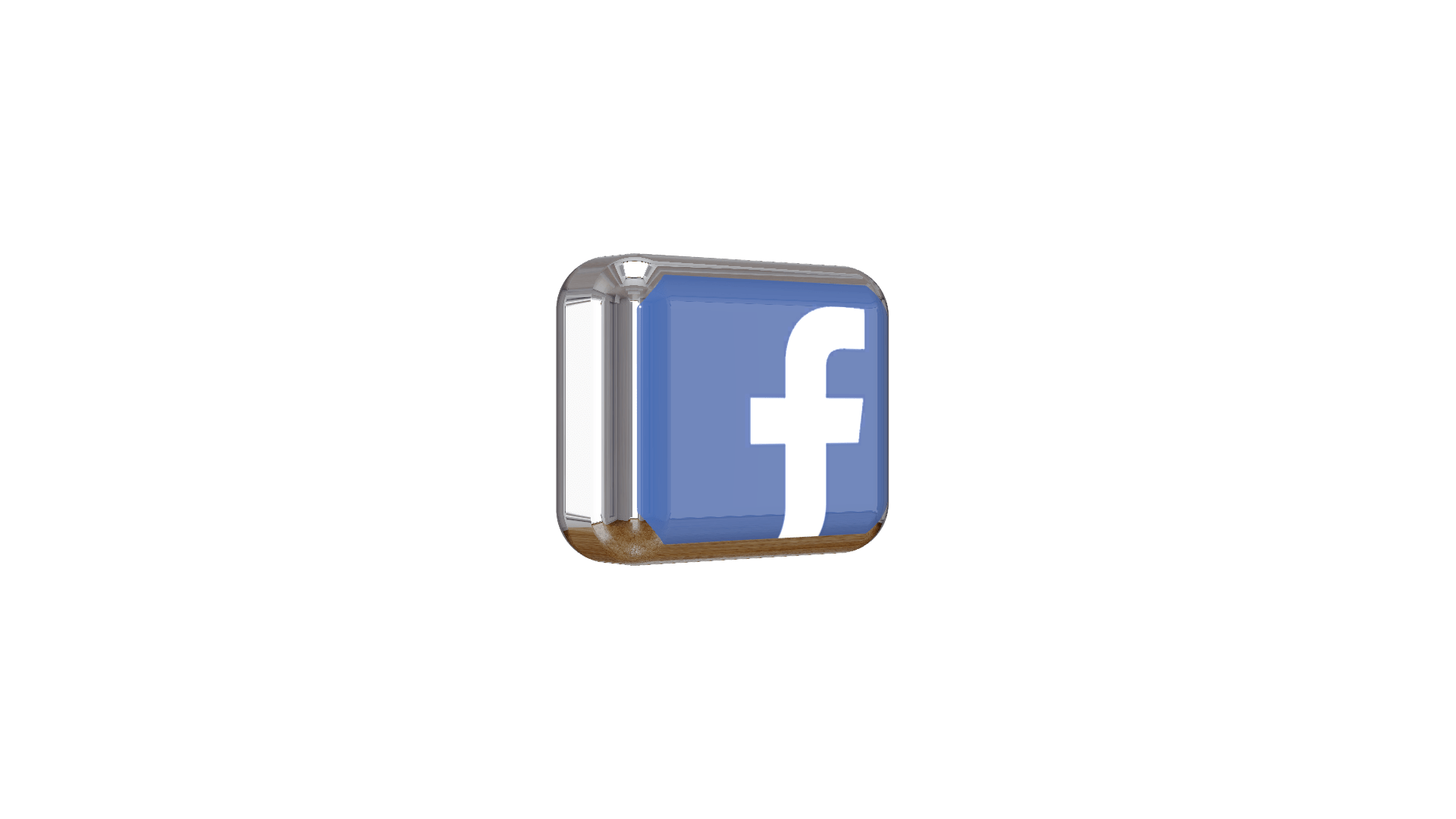 Facebook 3d png logo