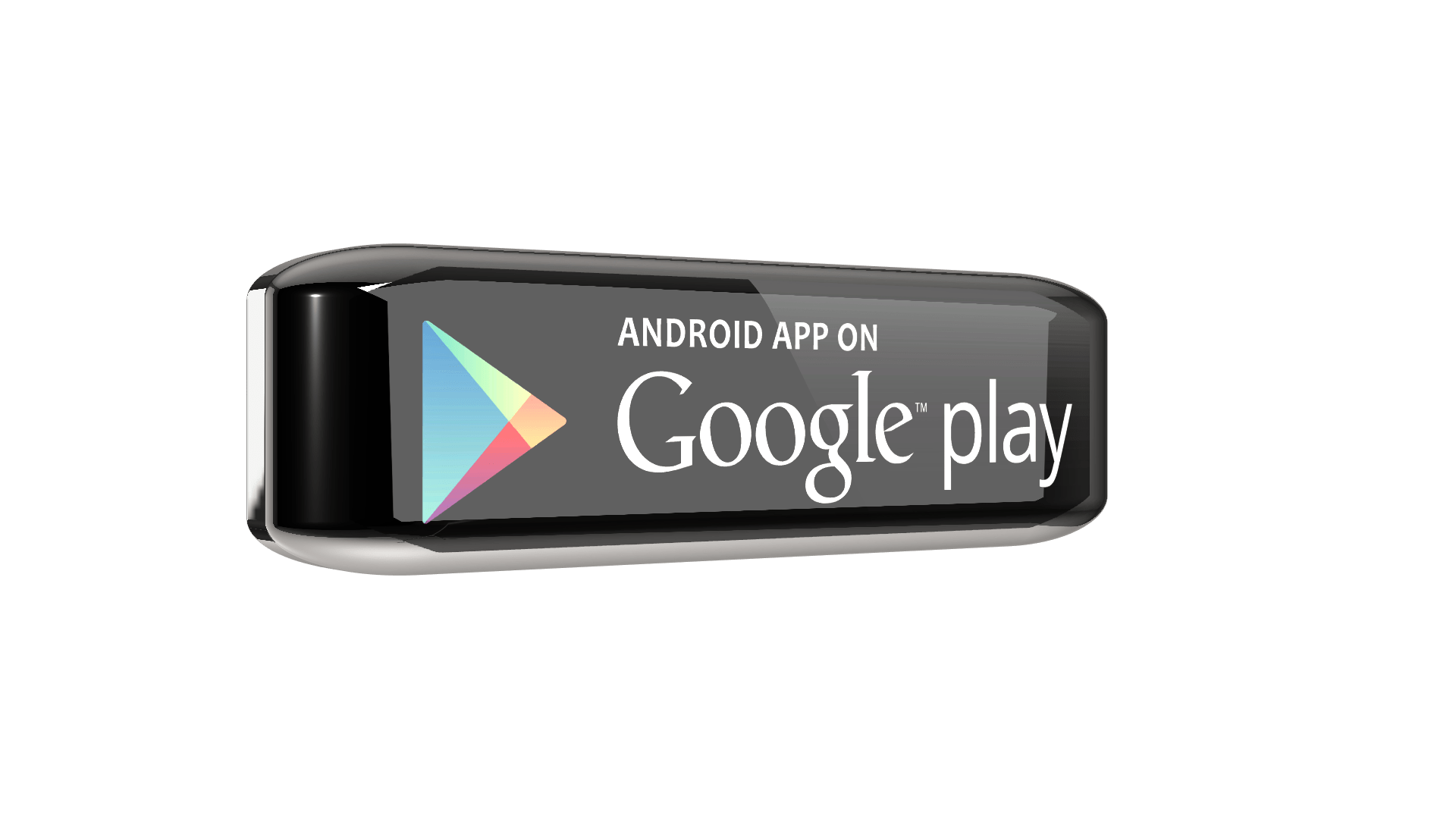 Google playstore 3D png button