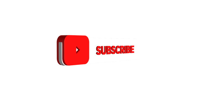 Youtube 3D subscribe button and play button png