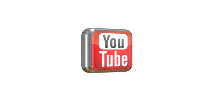 Youtube square shiny 3D button png file