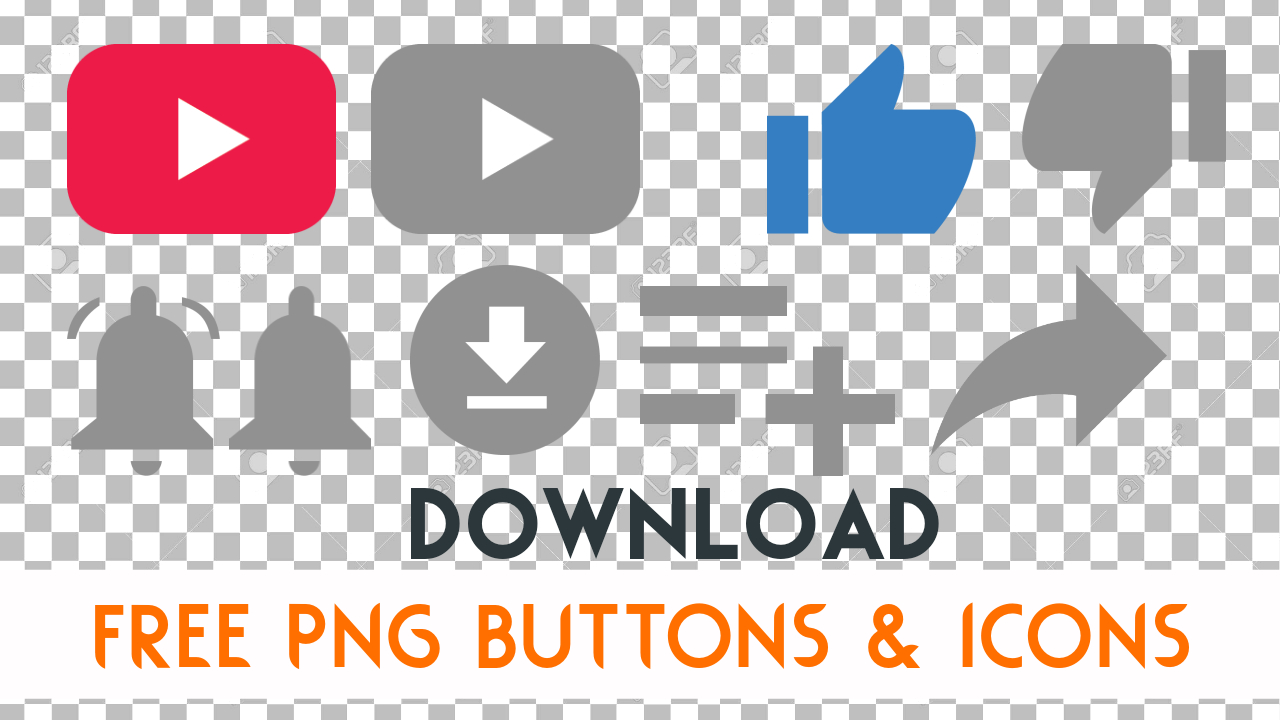 Download Free Subscribe Like Dislike Save Share Buttons Png With Bell Icon Mtc Tutorials