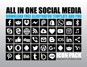 Download free social media icons png All in one icons logos