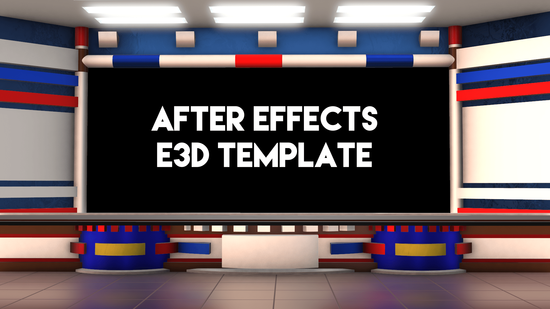 After Effects Element 3d template news studio desk mtc tutorials_00000