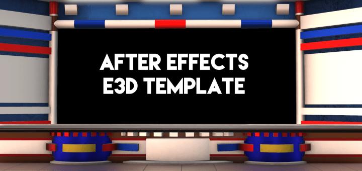 After Effects Element 3d template news studio desk mtc tutorials_00000