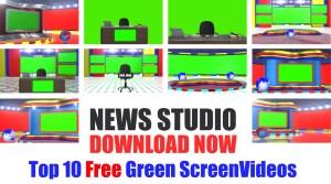 Download free breaking news green screen studio