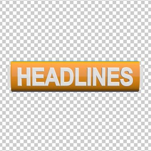 Headlines for news channels free png images yellow color by mtc