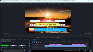 Hockey News Lower Thirds Free Adobe Premiere Template By MTC Tutorials