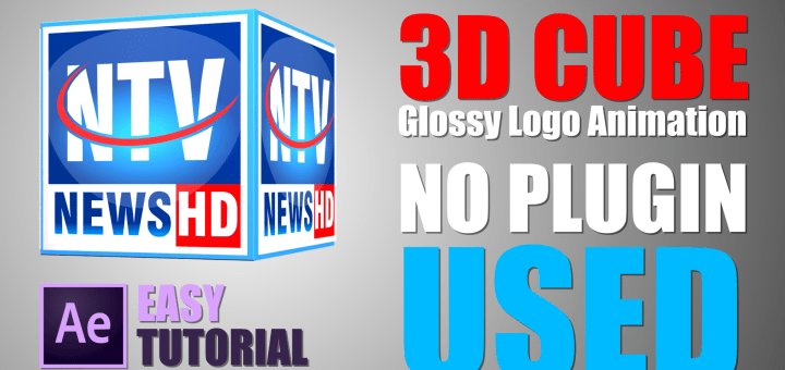 how to make glossy 3d animated cube logo Adobe After Effects Tutorial by mtc tutorials