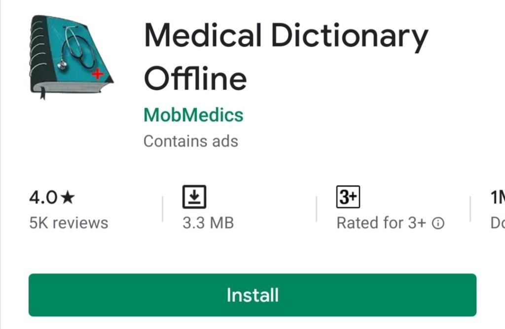 Medical Dictionary Offline free