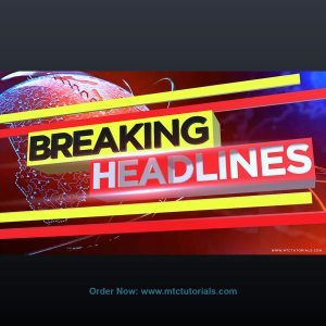 Breaking news design 3D text free download by mtc tutorials