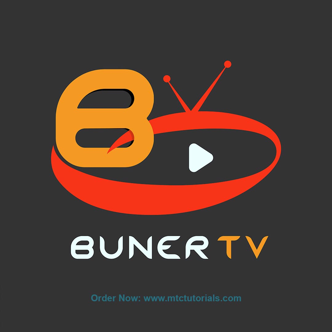 Buner tv logo design by mtc tutorials
