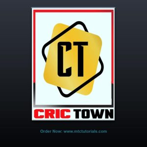 CT Cric Town 3D animated logo design by mtc tutorials
