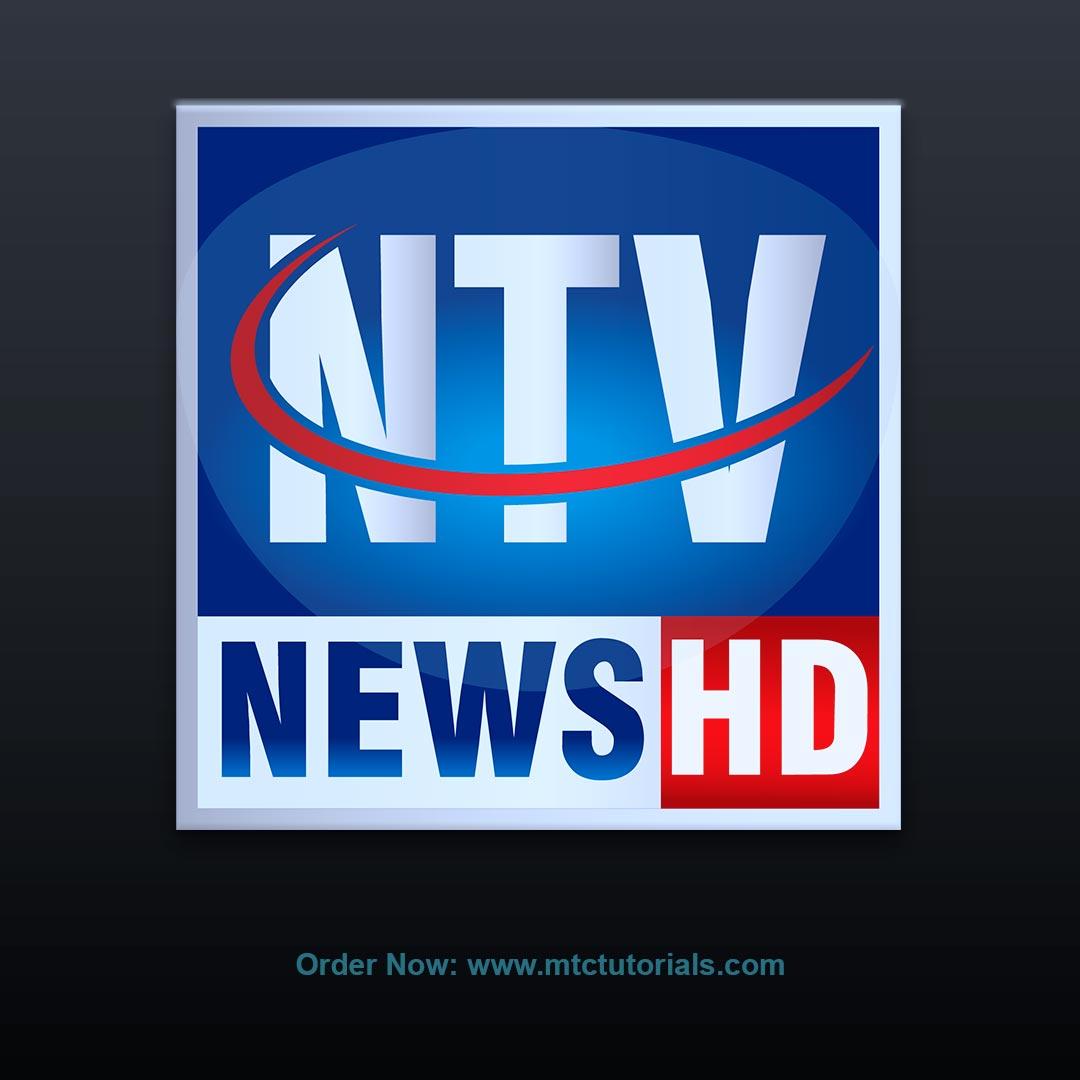 NTV News Logo by mtc tutorials and mtc vfx create online logo order now