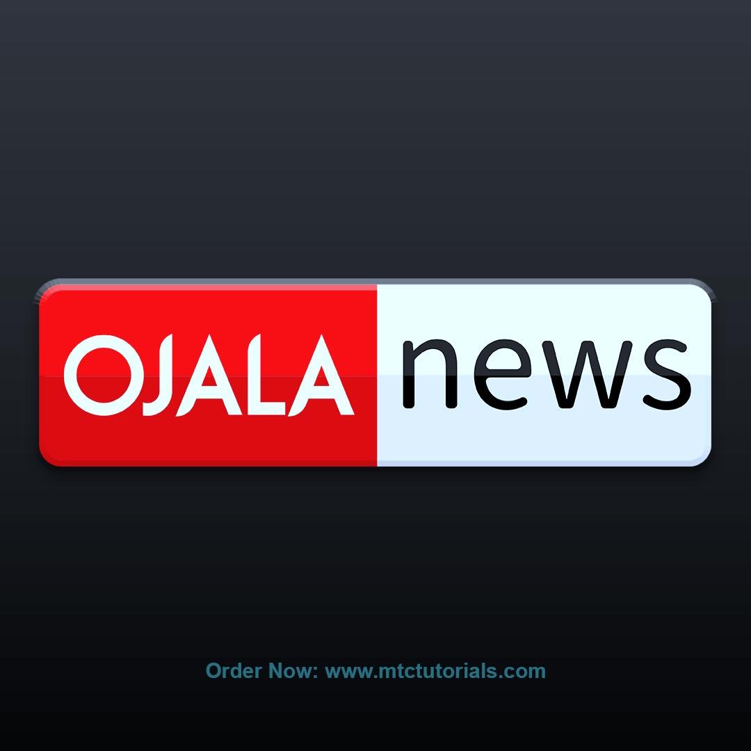 Ojala News English logo design by mtc tutorials