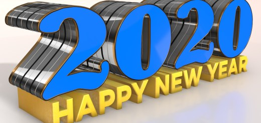 Happy new year blue 2020 wallpapers 3D designed high quality