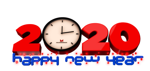 New year 2020 PNG images transparent 3D designed text