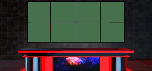 Free virtual set with png transparent background news desk download