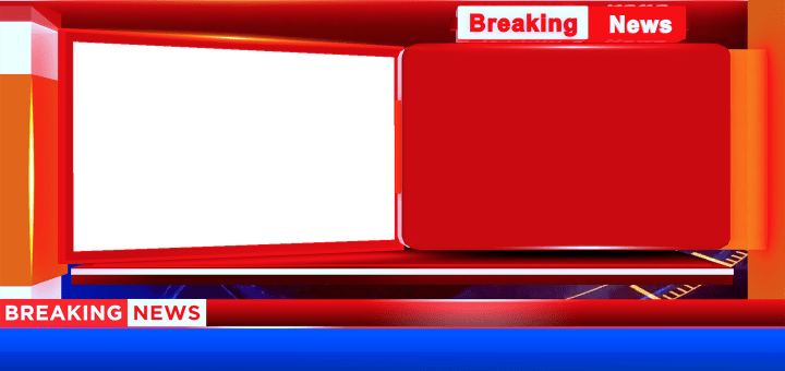 Breaking news with blue color lower third free png download
