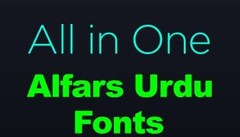 Alfars Urdu Fonts
