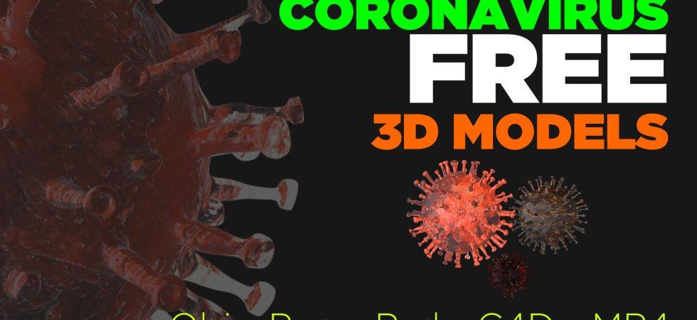 Download free coronavirus 3d models