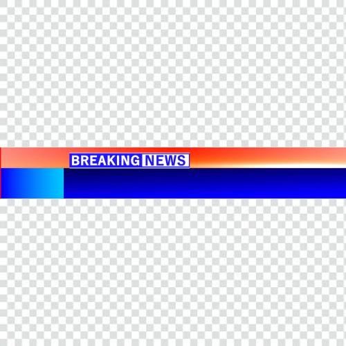 Free breaking news ticker png