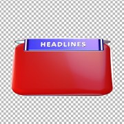 Headlines PNG stock images