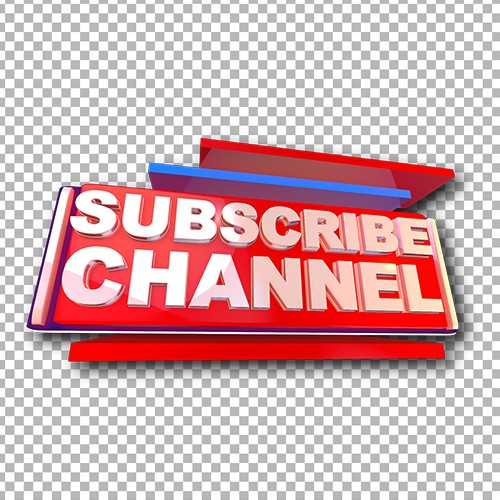 Youtube subcribe high quality png image
