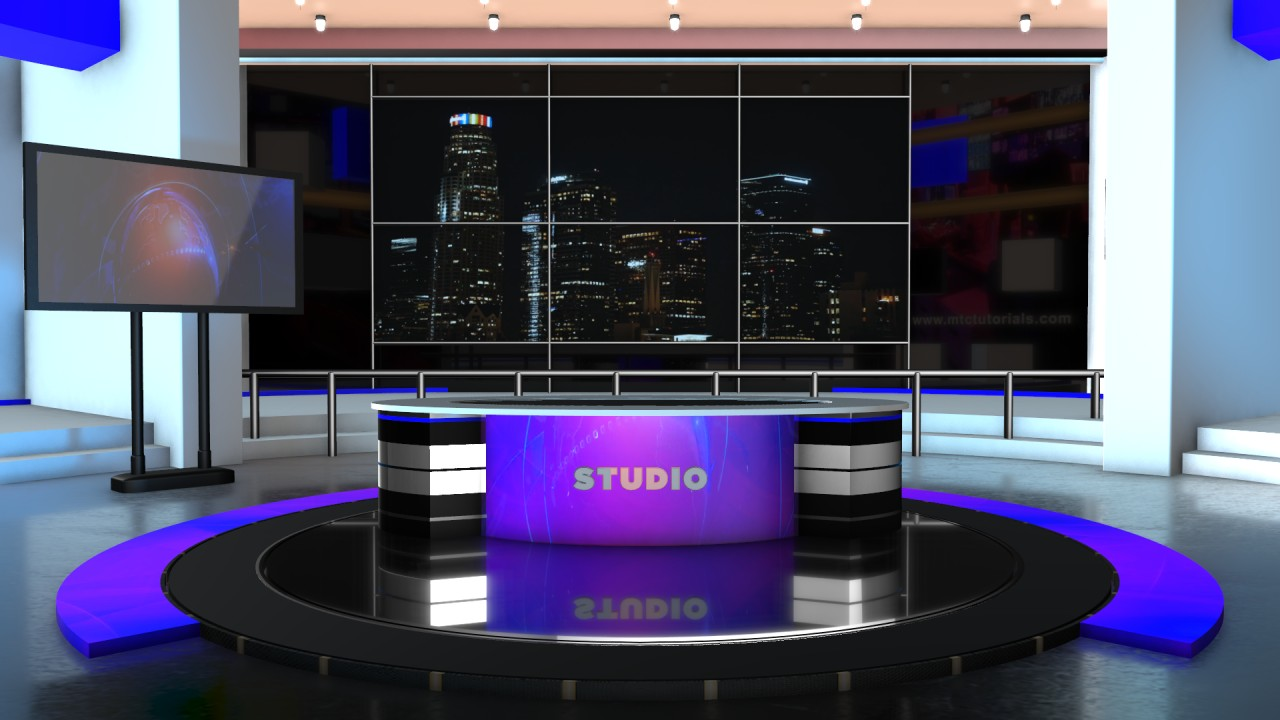 colorful news studio desk high quality download