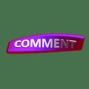 comment button 3D png