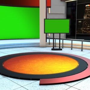Free Studio news background Virtual set