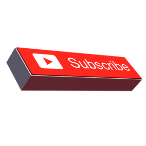 youtube 3d big button png free download