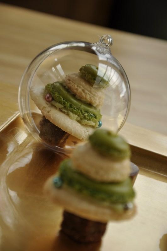 Boules transparente contact alimentaire et macaron
