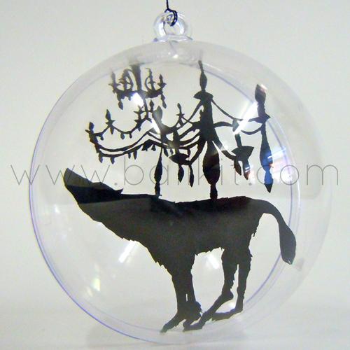 Création boule transparente et peinture sur séparateur transparent