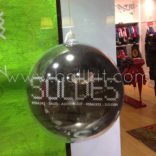 Photo boules transparentes display solde