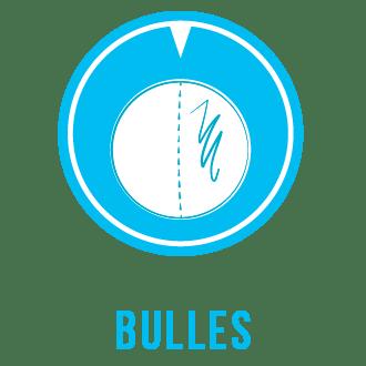 Bulles transparentes, teintées, opaques en plastique