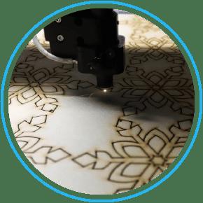 Découpe laser sur bois