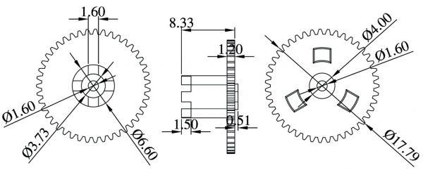 Automotive gear 41 teeth for Porsche 911/964/965/993