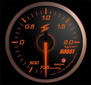 Manometro Pressione Turbo Analogico + Allarme - Stri - 52mm - Fumè