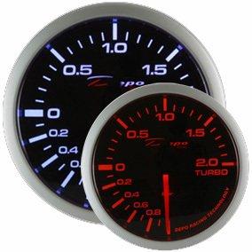 Manometro Pressione Turbo Analogico - Depo Racing - Black Line - 52mm