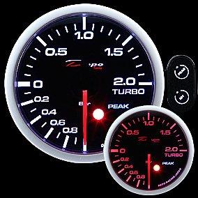 Manometro Pressione Turbo Analogico - Depo Racing - Visualizzazione Picco - 52mm
